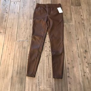 Free People Jeans - NWT Free People Vegan Leather Jeans